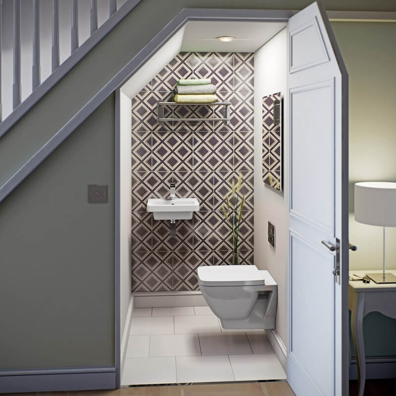 10 Features To Add To An Under Stairs Bathroom