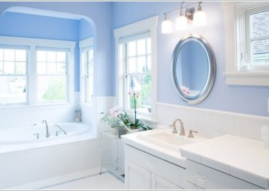 10 Fresh Ideas to Decorate a Bathroom with Blue 2
