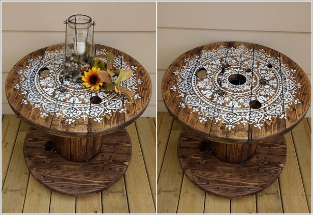 10 Ways To Decorate Cable Spools For Home Decor