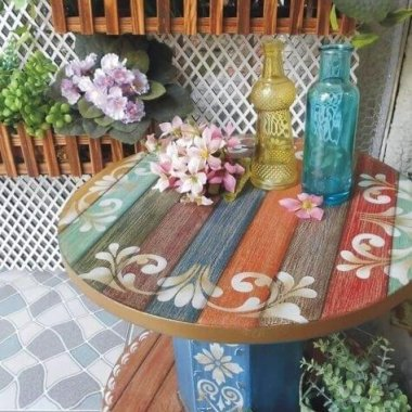 10 Ways to Decorate Cable Spools for Home Decor fi