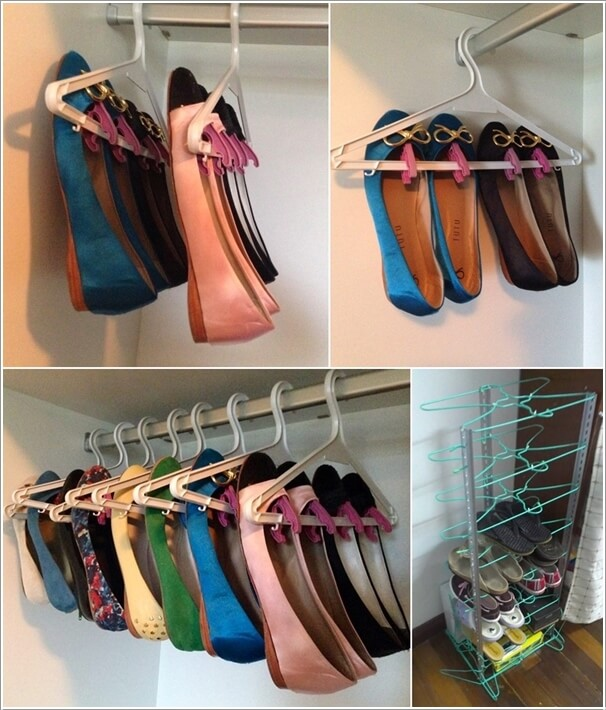 Charmant Create A Shoe Storage By Using Clothes Hangers
