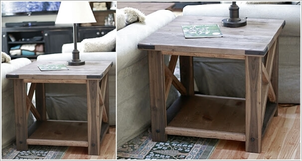 Build An X Base Rustic End Table