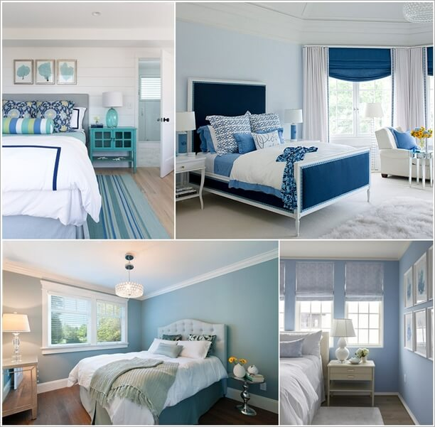 25 Blissful Blue Bedroom Designs