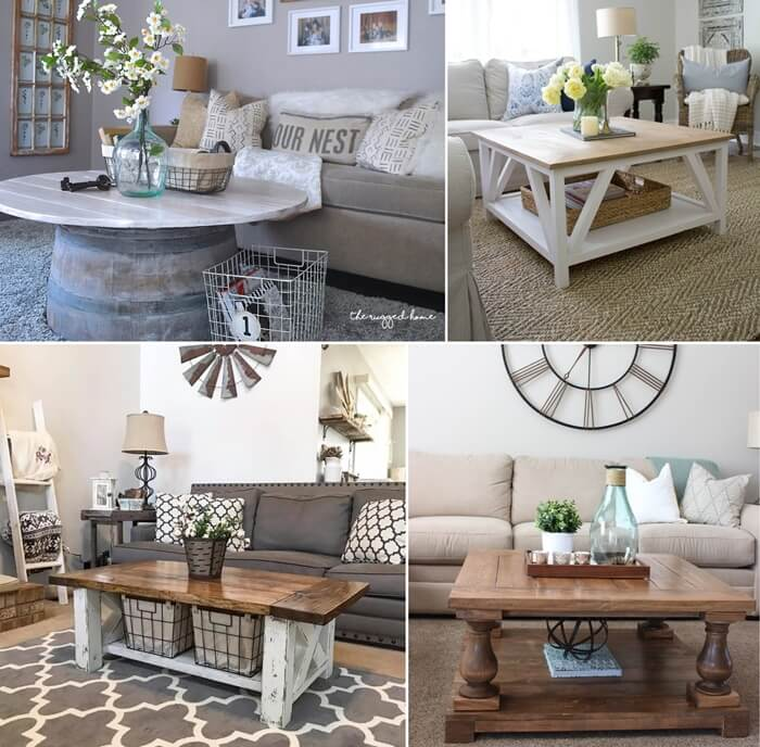 25 Charming Diy Farmhouse Coffee Table Designs