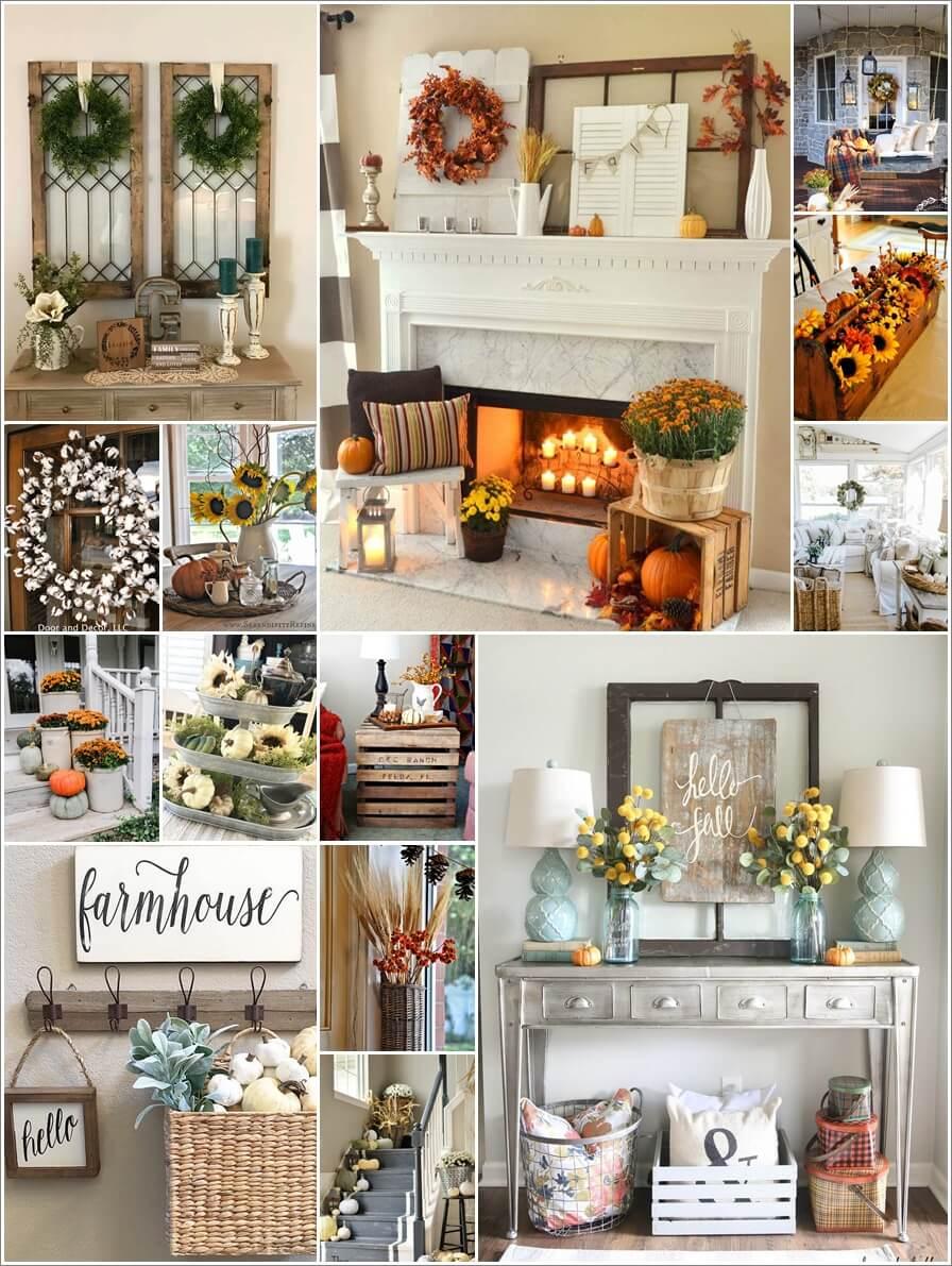 & Fabulous Fall Decorating Ideas in Farmhouse Theme