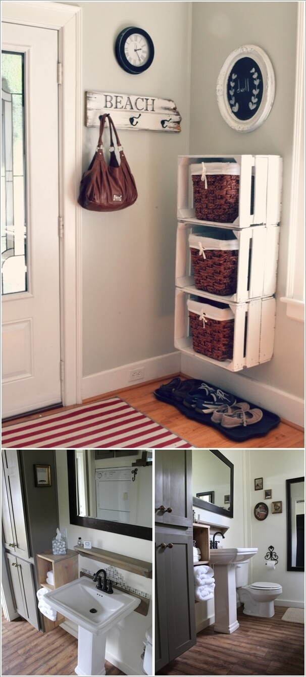 1 Use Recycled Objects Such As Wooden Crates For Creating Storage