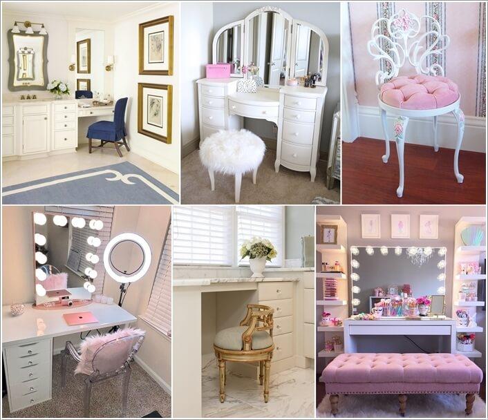 10 Wonderful Makeup Vanity Seating Ideas