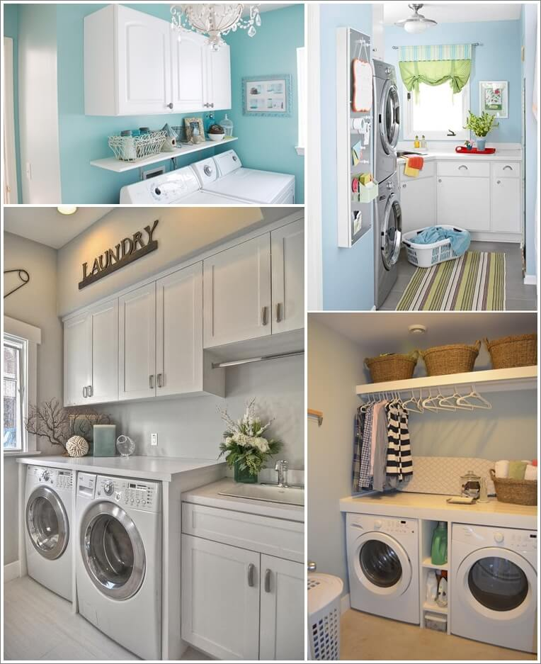 60 beautiful small laundry room designs for Laundry room design ideas