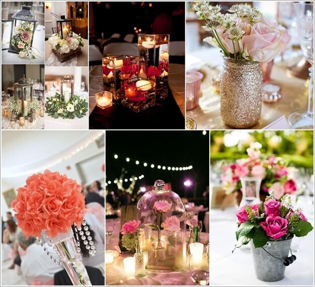 & 10 Wedding Centerpiece Ideas with Flowers