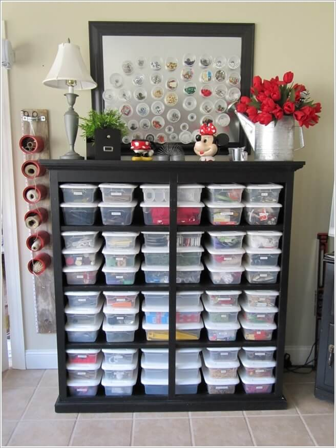 clever ideas a room sewing organization
