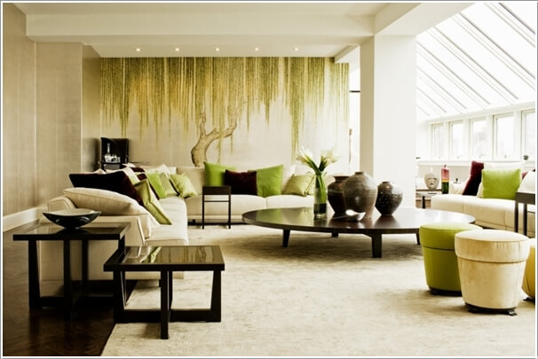 10 nature inspired living room decor ideas for Nature themed bedroom decor