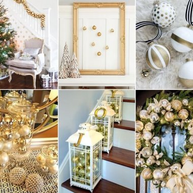 23 Glamorous Gold Christmas Decor Ideas fi