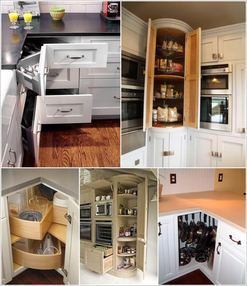 Storage Ideas For Corner Kitchen Cabinets: Clever Corner Kitchen Storage Ideas