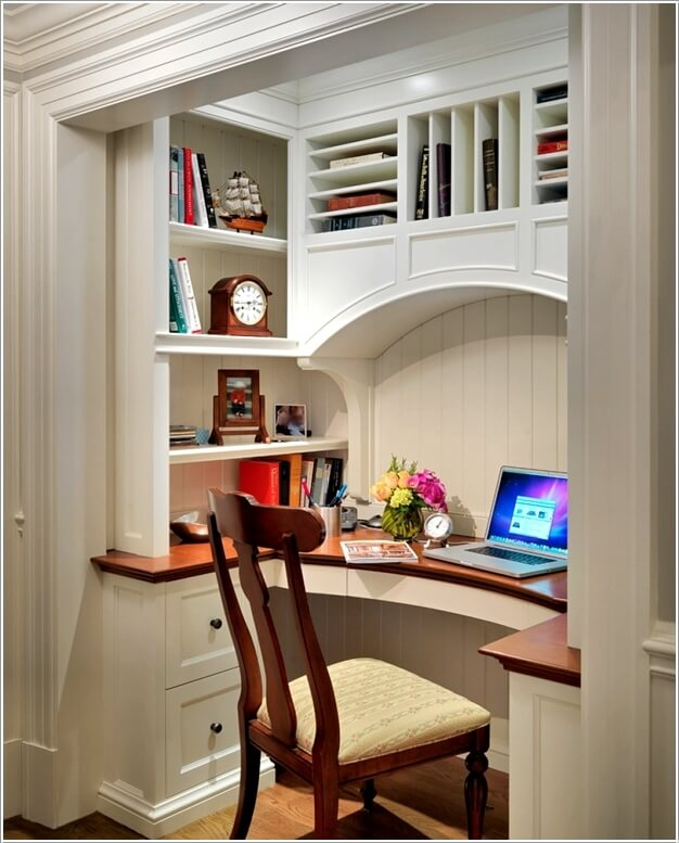 4. Transform Any Empty Closet Into A Home Work Space