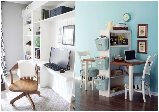 Build A Clever Home Office Space Around A Bookcase