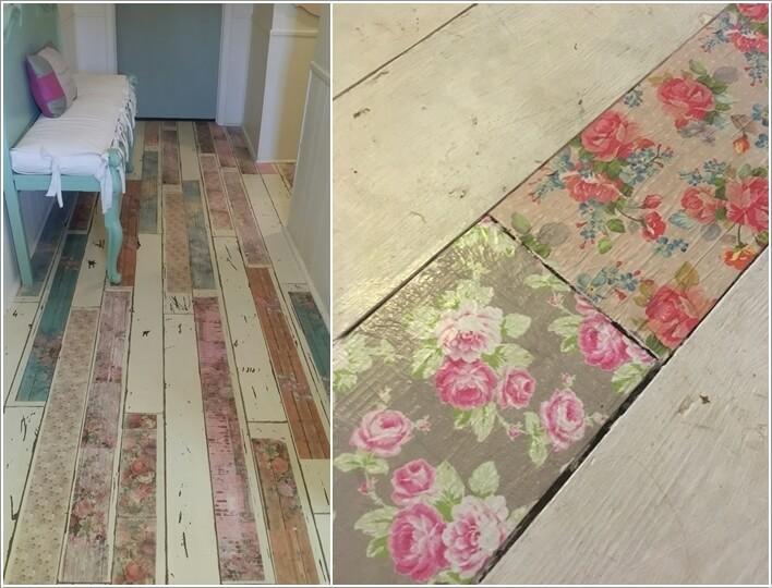 Created Paint Splashed Floors