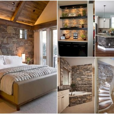 Stunning Interior Stone Wall Ideas