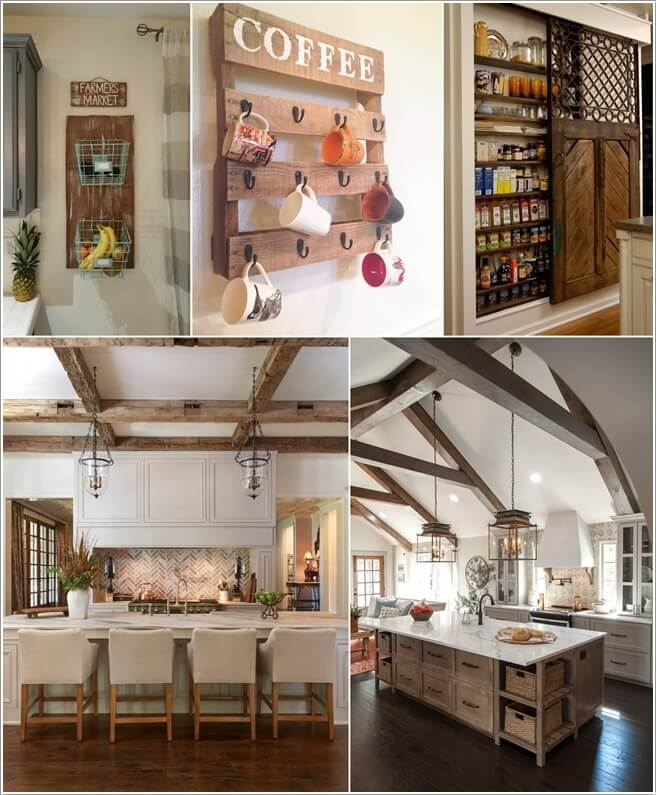 10 amazing rustic kitchen decor ideas for Kitchen accessories ideas