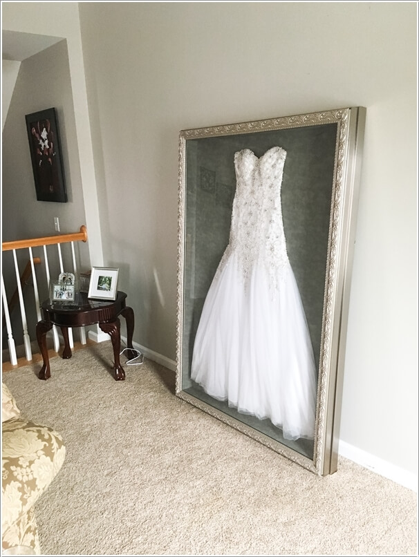 Wanna Do Something Unique and Out of The Box? Then Frame Your Wedding Day Dress Like This & Step Up The Decor Game with These Grand Wall Art Ideas