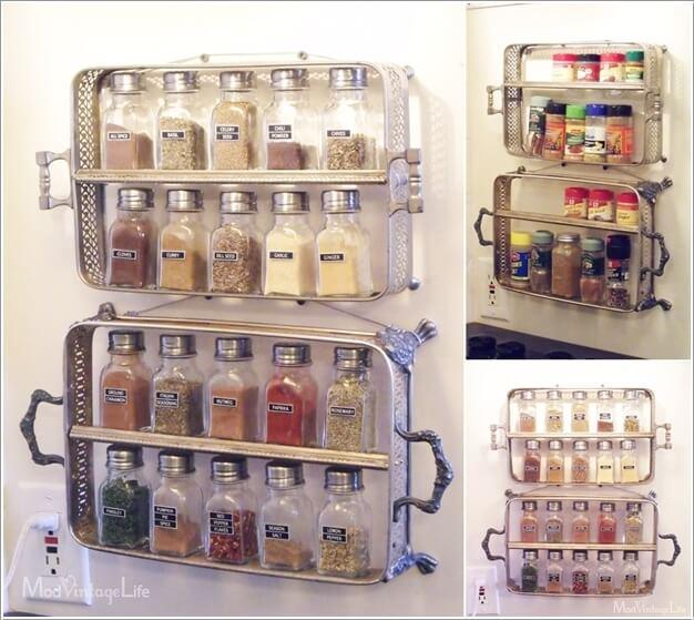 10 Wonderful Diy Spice Shelf Ideas