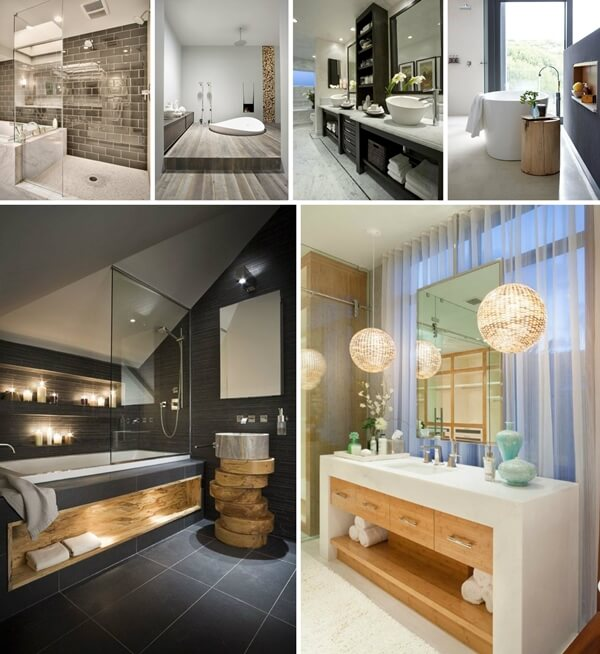 bathroom design modern inspiring house | 30 Awe-Inspiring Contemporary Bathroom Designs