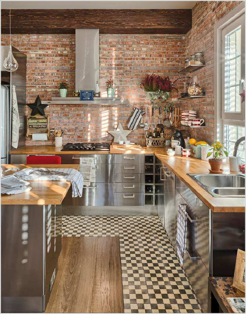 For An All Look Go Stainless Steel Cabinetry And Make Your Kitchen Like That Of A Restaurant