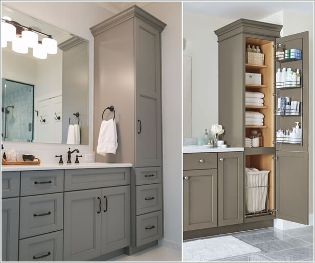 Clever Tower Storage Ideas For A Bathroom