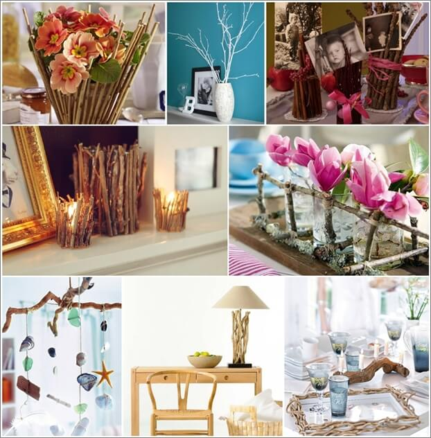 Creative Ideas For Branches As Home Decor: Creative Ways To Make Tree Branch Decorations