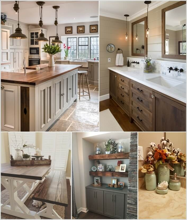 The Images Collection Of Modern Farmhouse Tour Interior: How To Decorate In Farmhouse Style