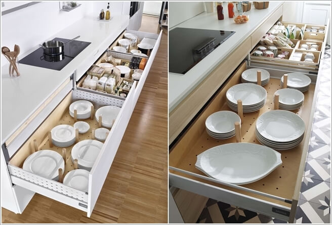 Partition Deep Drawers And Store Your Crockery Collection