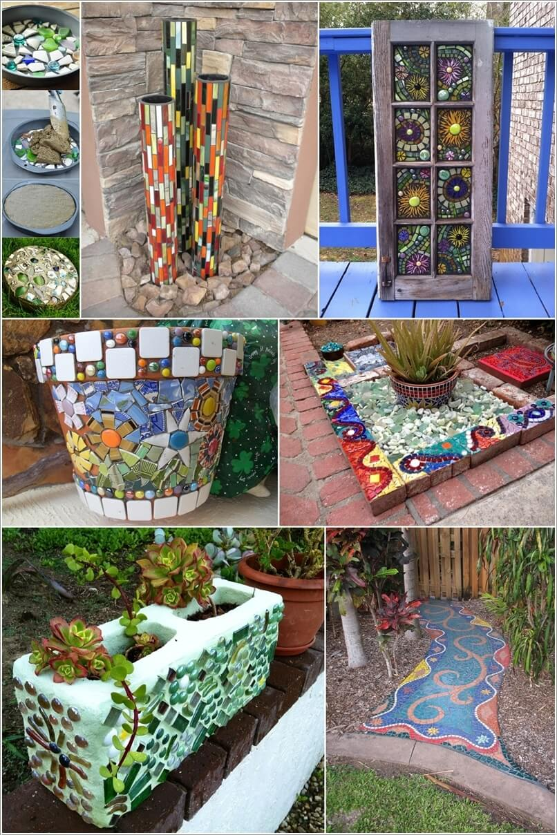 12 diy mosaic garden decor projects for Mosaic home decor