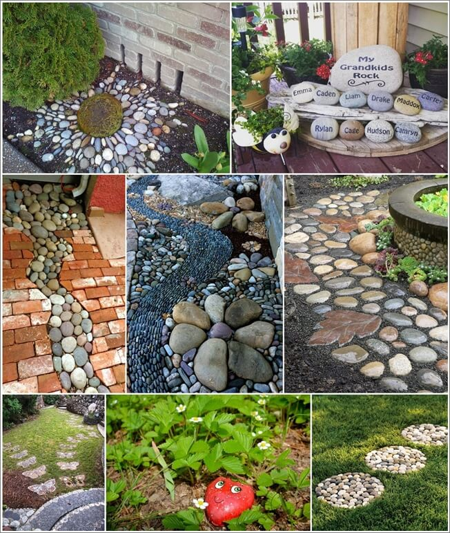 25 wonderful garden decor ideas with rocks for Decorative garden accents