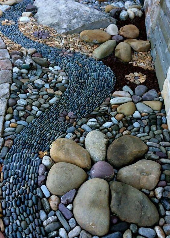 25 Wonderful Garden Decor Ideas with Rocks on Rock Decorating Ideas  id=51776