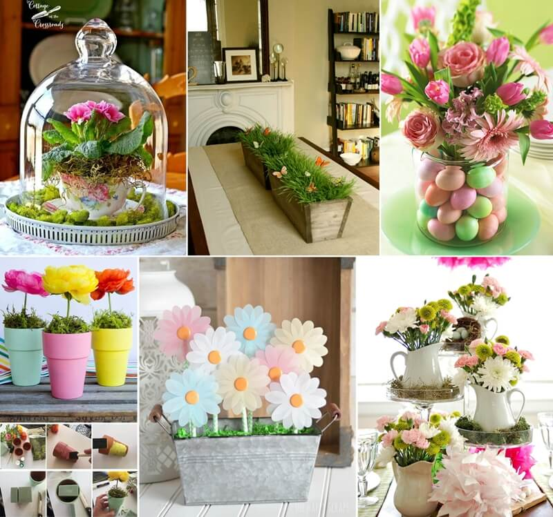 Cheerful spring centerpiece ideas
