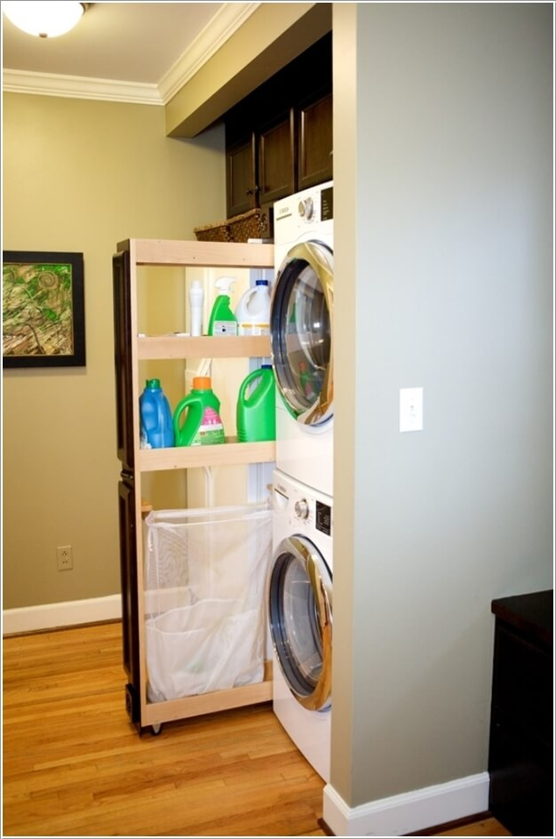 Clever Vertical Storage Ideas For A Laundry Room
