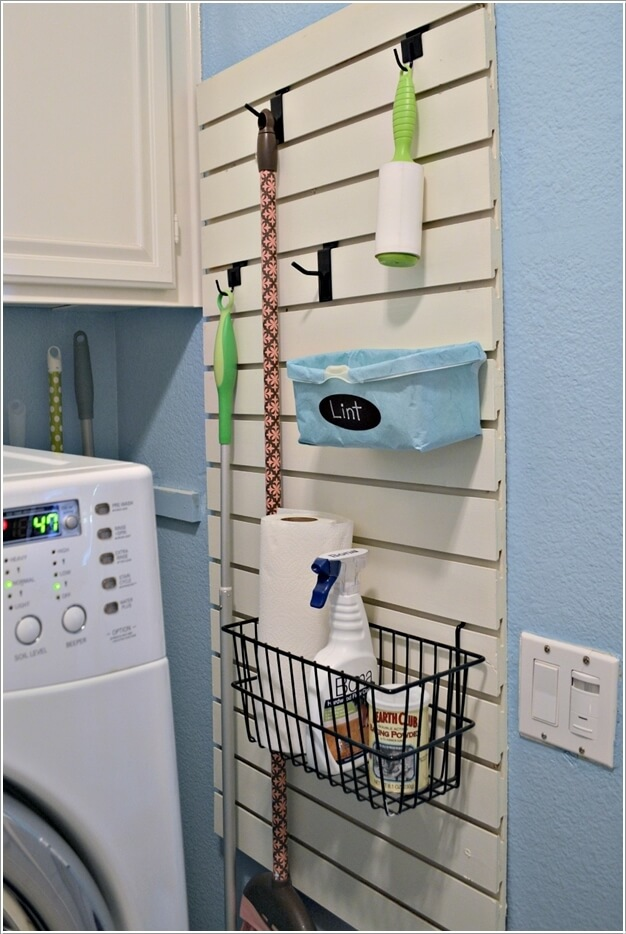 Laundry Room Industrial Shelves