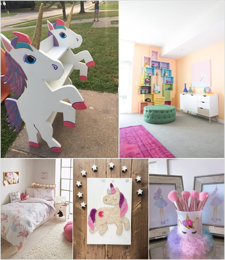 At Home Home Decor: Magical Unicorn Inspired Home Decor Ideas