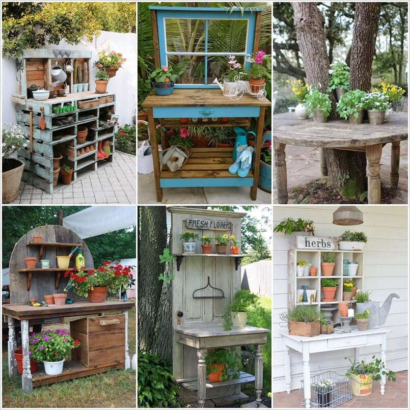 27 wonderful potting bench ideas for your garden workwithnaturefo