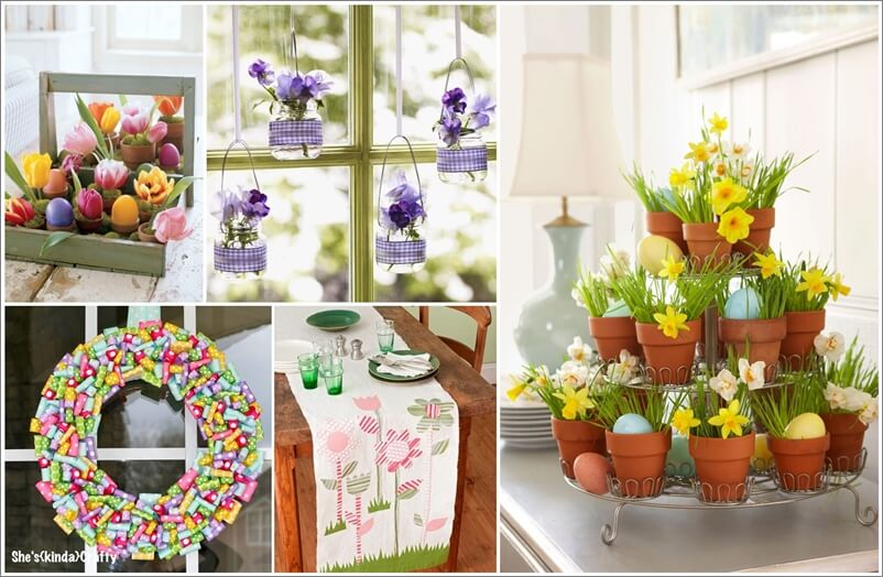 80 diy easter decor ideas to try this year for Diy easter room decor