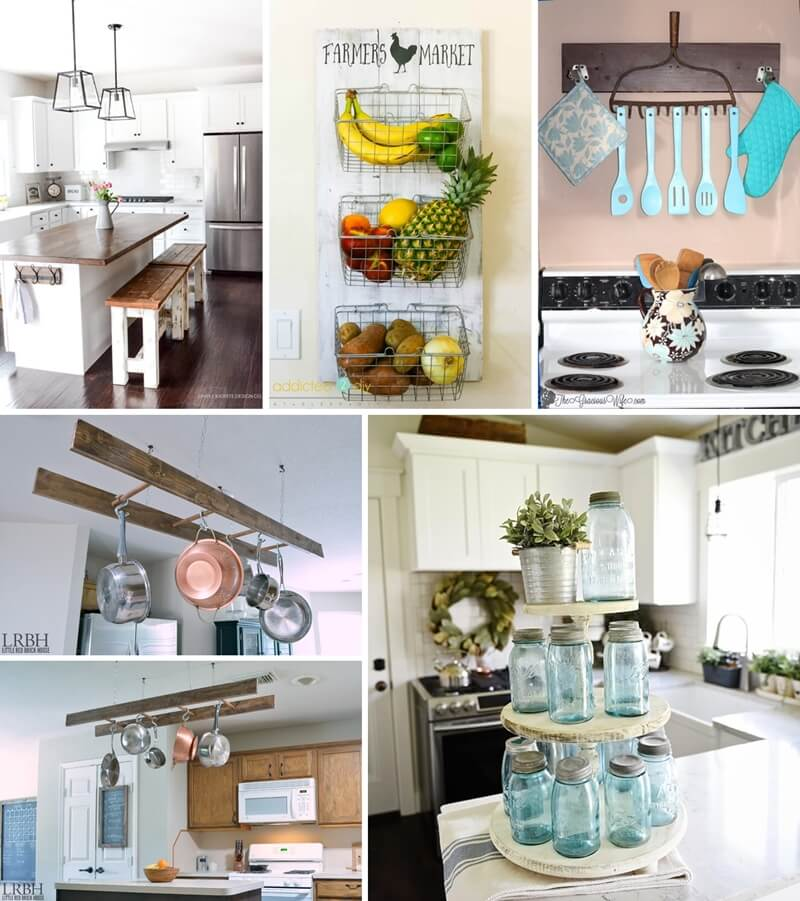 diy kitchen wall decor ideas diy farmhouse kitchen decor projects 23592