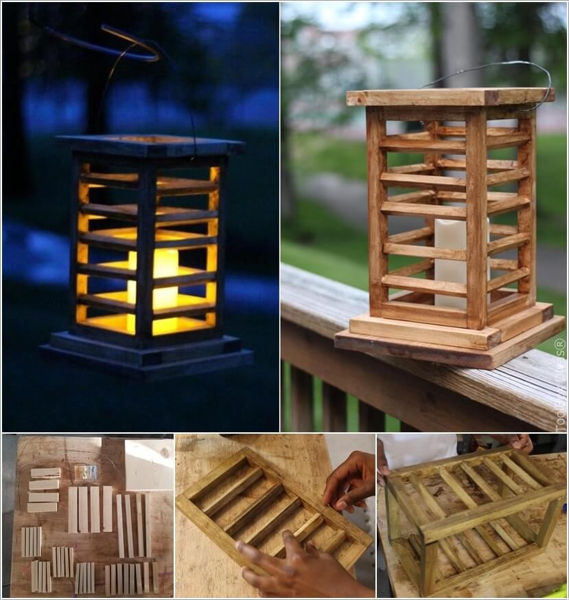 Create A Classy Expensive Looking Slated Lantern From Pieces Of Wood