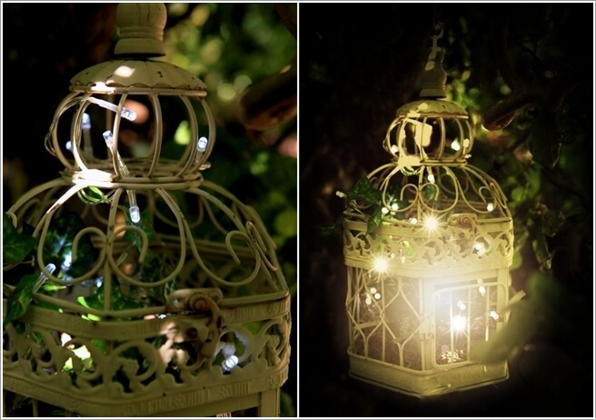 Attractive Find A Birdcage From Flea Market And Throw In A String Of Lights