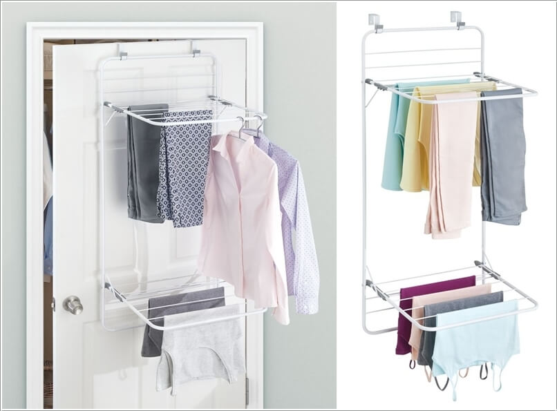 A Clever Over Door Clothes Drying Rack