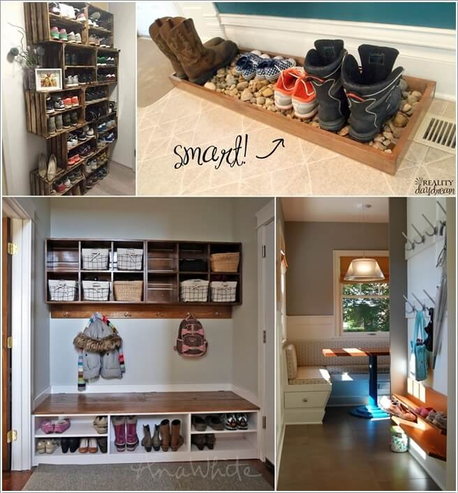 which entryway shoe storage idea do you like the most? Storage Ideas Entryway