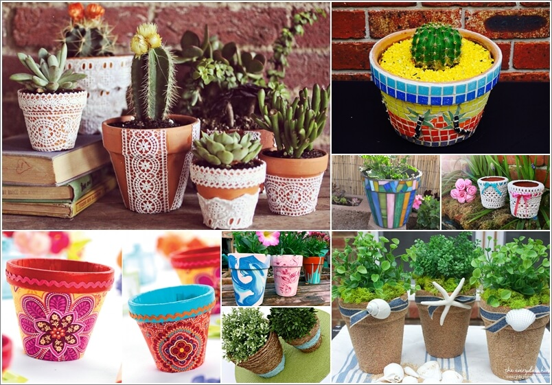 Decorate Your Flower Pots In A Creative Way