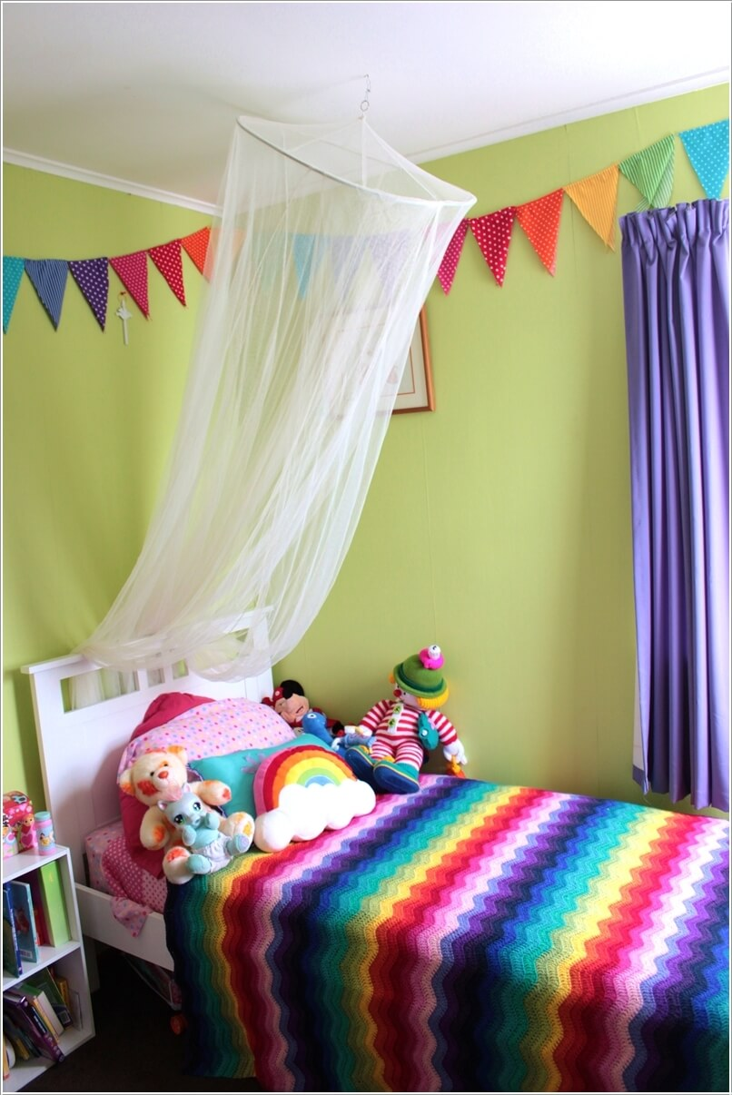 Cute ideas to decorate a kids room with crochet for Cute kids rooms