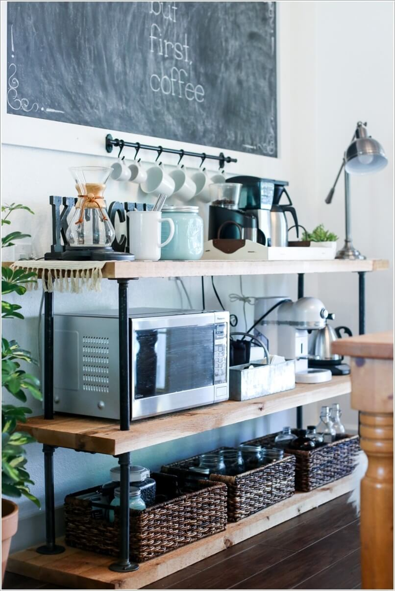 10 Ways to Re-purpose a Bookcase for Kitchen