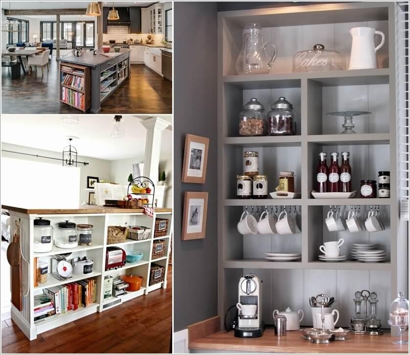 Kitchen Design Book: 10 Ways To Re-purpose A Bookcase For Kitchen