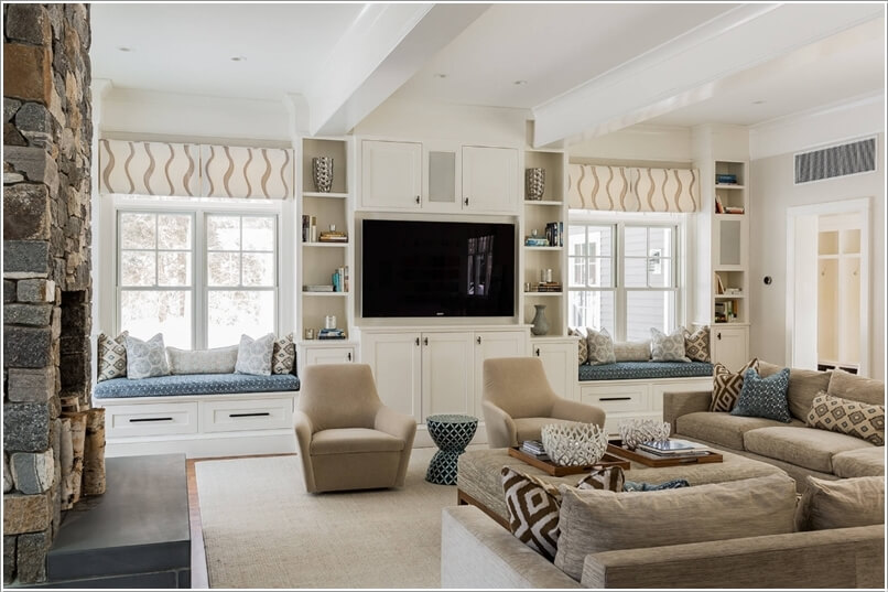 Beautify Your Living Room With Built Ins