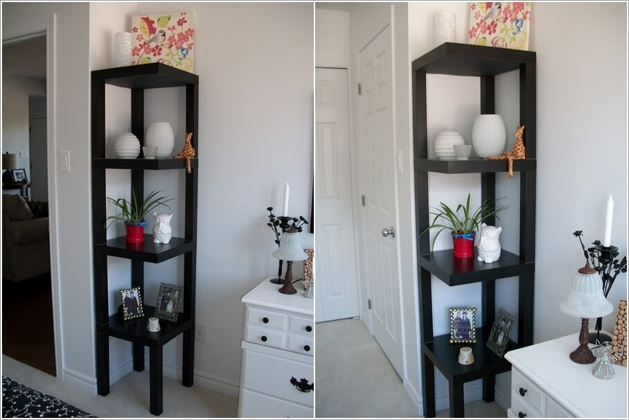 9 A Corner Shelving Tower Created by